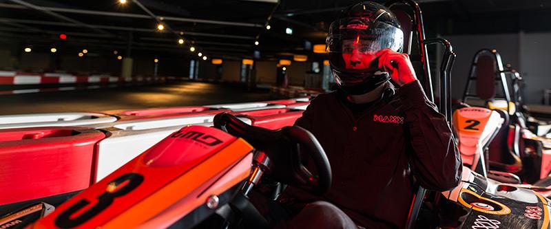 Indoor karten doe je bij The Maxx Veenendaal